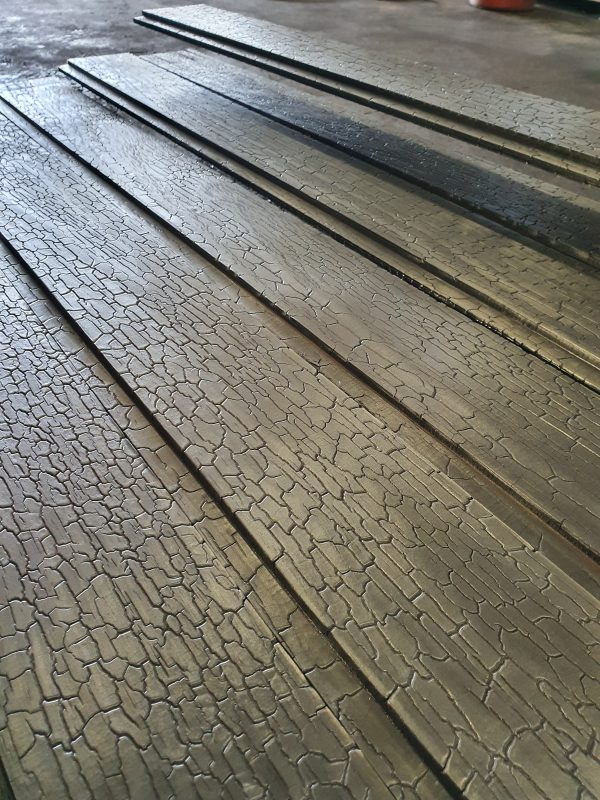 Burnt accoya wood