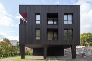 Shou sugi ban wood house