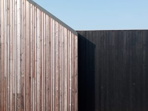 Shou Sugi Ban cladding in exterior