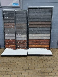 Charred wood durability in bad weather