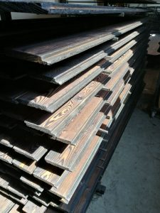 Charred wood is resistant to rot