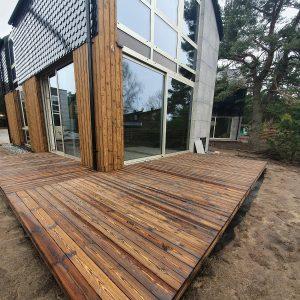 Shou Sugi Ban outdoor deck